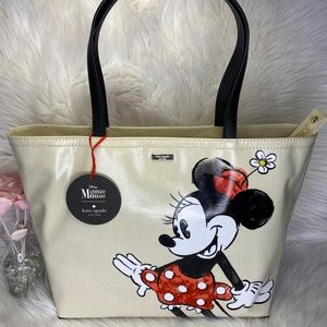 ♥️♠️Kate Spade♠️♥️Minnie Mouse Canvas Tote